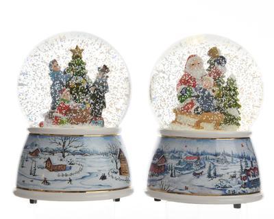 Vánoční LED/hrající dekorace - Sněžítko XMAS FUN 11 cm, Kaemingk
