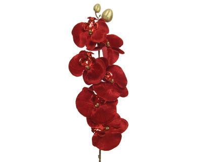 Květina ORCHIDEJ, 67 cm, červená, Kaemingk