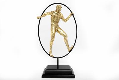 Dekorace - Socha muže GOLD MAN 48x29 cm, Sifcon