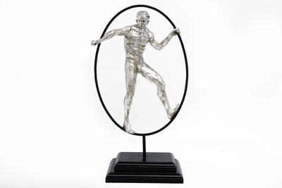 Dekorace - Socha muže SILVER MAN 48x29 cm, Sifcon