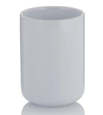 Pohárek na kartáčky ISABELLA 10x7,5 cm - bílá, Kela