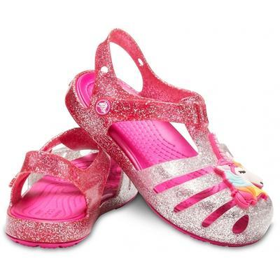 Sandály ISABELLA CHARM SANDAL KIDS C8 pink ombre, Crocs