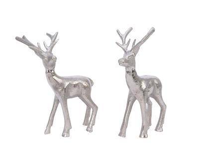 Dekorace JELEN,  21CM, stříbrná, 2 druhy, Kaemingk