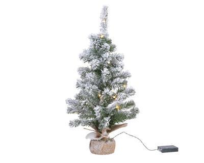 Mini vánoční stromeček IMPERIAL, zasněžený, svítící, 75cm - 35xLED, Kaemingk