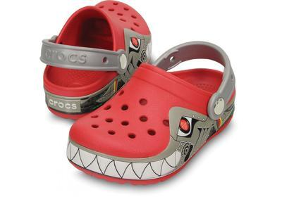 Boty CROCSLIGHTS ROBO SHARK CLOG C10 red/silver, Crocs