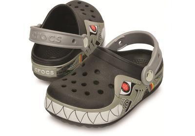 Boty CROCSLIGHTS ROBO SHARK CLOG C10 black/silver, Crocs