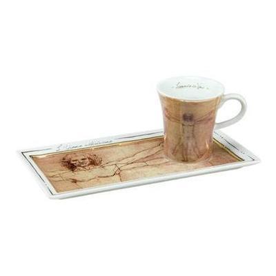 Set espresso - Limited ARTIS ORBIS L. da Vinci -Vitruvian Man - 100 ml, Goebel