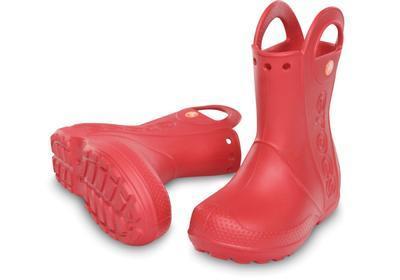 Holínky HANDLE IT RAIN BOOT KIDS J2 red, Crocs