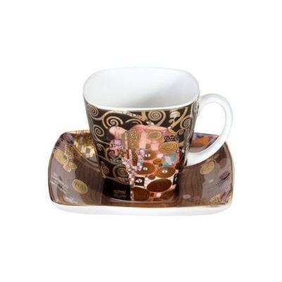 Šálek a podšálek espresso ARTIS ORBIS G. Klimt - Fulfilment - 100 ml/6,5 cm, Goebel
