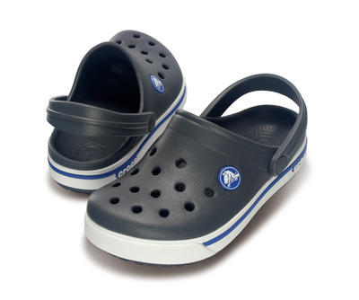 Boty CROCBAND II.5 CLOG KIDS C10/11 charcoal/sea blue, Crocs