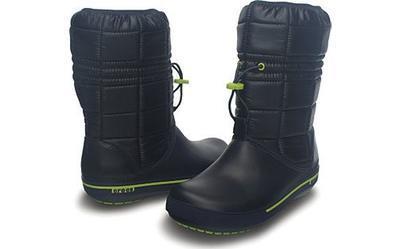 Sněhule CROCBAND II.5 WINTER BOOT W6 navy/green aple, Crocs