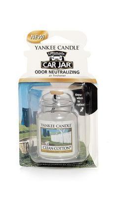 Vůně do auta Clean Cotton, Yankee Candle