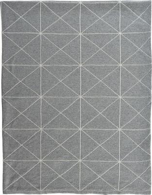 Vánoční pléd LINE 125x150 cm - silber, Sander