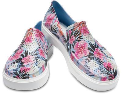 Boty CITILANE ROKA GRAPHIC SLIP-ON W8 tropical floral, Crocs