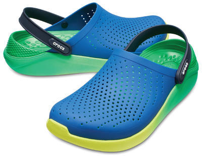 Boty LITERIDE GRAPHIC CLOG M8/W10 blue jean/tennis ball green, Crocs
