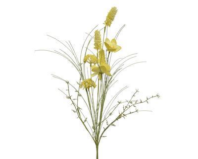 Jarní svazek květin - mix, žlutý, 60cm, Kaemingk