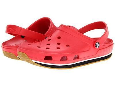 Boty RETRO CLOG KIDS J1 red/black, Crocs