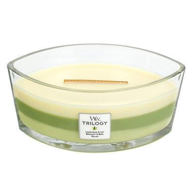 Svíčka loď - Garden Oasis TRILOGY - 453,6 g, WoodWick