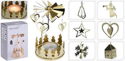 Vánoční svícen- zvonkohra, zlatý