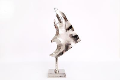 Dekorace - Ryba, 42x19cm, stříbrná, Sifcon