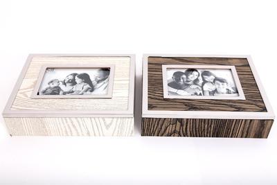 Fotobox 19x24x6cm, 2 druhy, hnědý/krémový, Sifcon