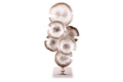 """Dekorace """"ABSTRACT"""", 52x26cm, stříbrná, Sifcon"""