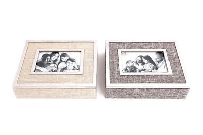 Fotobox, 19x24x6cm, 2 druhy, krémový/světle hnědý, Sifcon