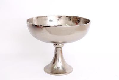 Mísa s nohou, stříbrná, 36x29cm, Sifcon