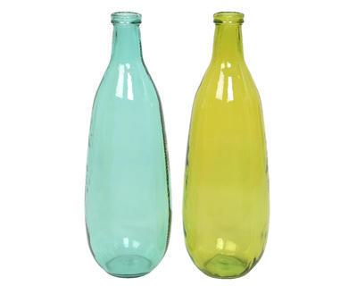 Váza, 2 assort, recyklované sklo, Kaemingk