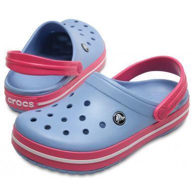 Boty CROCBAND M8/W10 chambray blue/paradise pink, Crocs