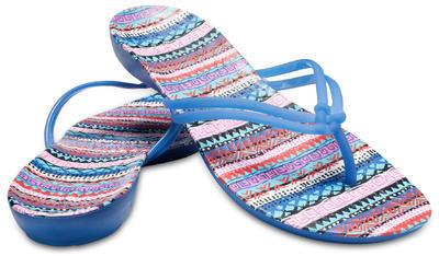 Žabky ISABELLA GRAPHIC FLIP W8 blue jean/geo, Crocs