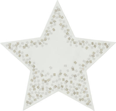 Vánoční prostírka - hvězda SNOWFLAKES 36 cm - ecru, Sander