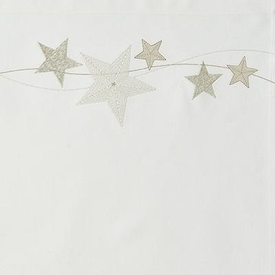 Vánoční povlak na polštář FALLING STARS 40x40 cm - ecru, Sander