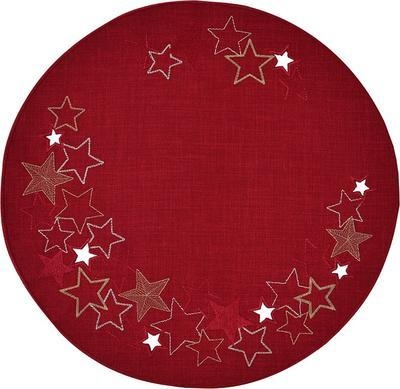 Vánoční ubrus kulatý HALLEY 52 cm - weinrot, Sander
