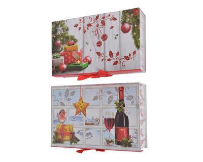 Vánoční krabice dárkové - XMAS CLASSIC - Set 5ks, Kaemingk