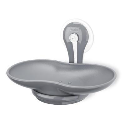 Miska na mýdlo s přísavkou LOOP - šedá, Koziol
