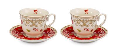 Vánoční šálek a podšálek na čaj - set 2ks IL GUSTO 250 ml, Palais Royal