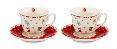 Vánoční šálek a podšálek na čaj - set 2ks UNA BELLA 250 ml, Palais Royal