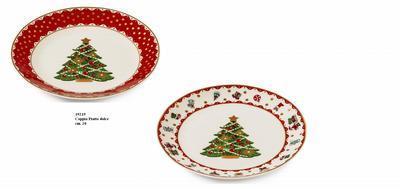 Vánoční talíř dezertní - set 2ks UNA BELLA 20 cm, Palais Royal
