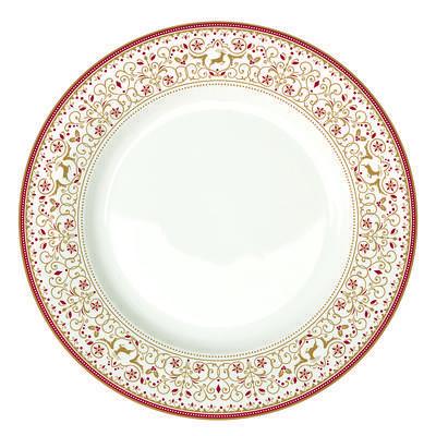Vánoční talíř jídelní WINTER CAROUSEL 26,5 cm, Easy Life