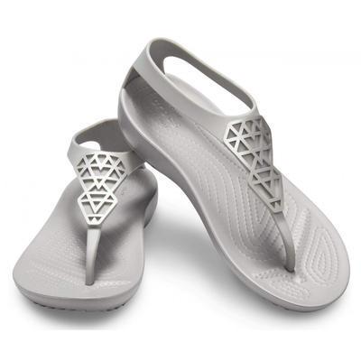 Žabky SERENA EMBELLISH FLIP W6 silver/silver, Crocs