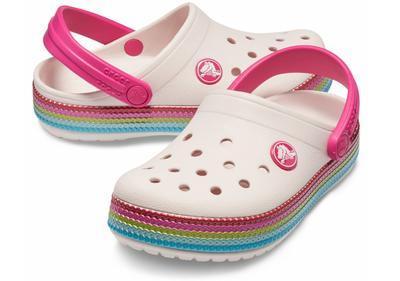 Boty CROCBAND SEQUIN BAND CLOG KIDS J1 barely pink, Crocs