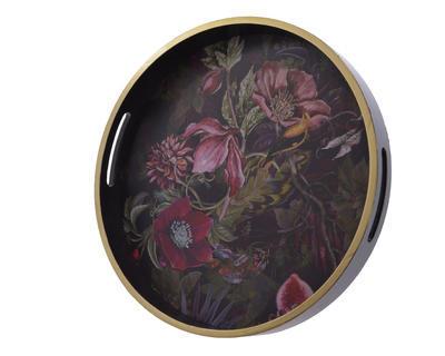 Podnos s květy FLOWERS 35x4 cm - fialová, Kaemingk