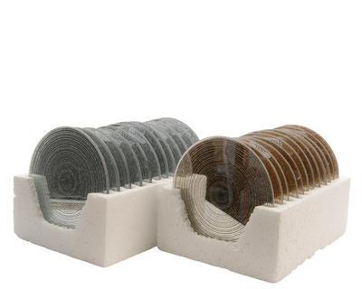 Podložka MIRROR 10 cm - zlatá/stříbrná, Kaemingk