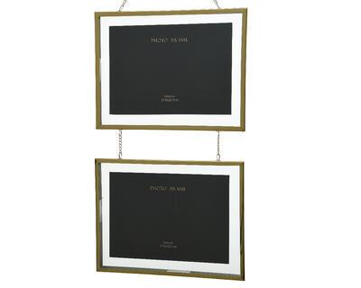 Fotorámeček závěsný DOUBLE 22x38 cm - zlatý, Kaemingk