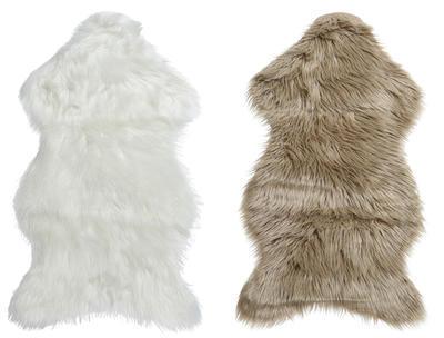Umělá kožešina LONG PILE  50x90 cm - natural/bílá, Kaemingk
