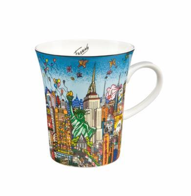Hrnek POP ART Ch. Fazzino - Butterflies over New York - 400 ml, Goebel
