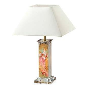 Lampa stolní ARTIS ORBIS A. Mucha - Summer - Winter 1900 - 41 cm, Goebel