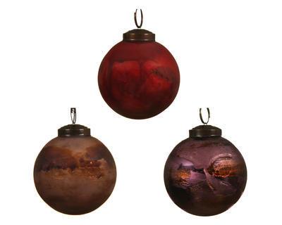 Vánoční ozdoba - Koule MARBLE 8 cm, Kaemingk