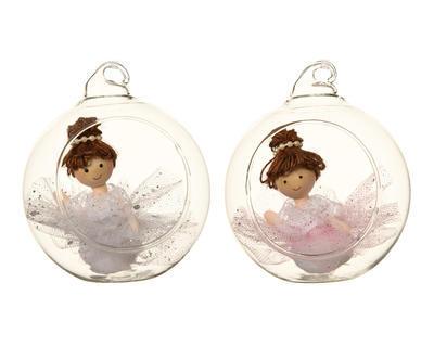 Vánoční ozdoba - Koule ANGEL 8 cm, Kaemingk